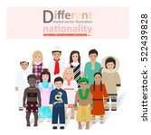 little children of different... | Shutterstock .eps vector #522439828
