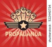 propaganda poster template | Shutterstock .eps vector #522440734