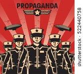propaganda poster template | Shutterstock .eps vector #522440758