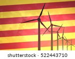 wind turbines on the background ... | Shutterstock . vector #522443710