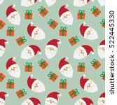 cute santa claus seamless...   Shutterstock .eps vector #522445330