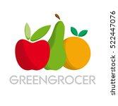 vector abstract greengrocer.... | Shutterstock .eps vector #522447076