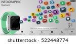 smart watch business ... | Shutterstock .eps vector #522448774