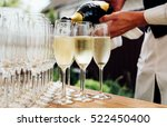 glasses of champagne | Shutterstock . vector #522450400
