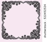 lace frame  | Shutterstock .eps vector #522452524