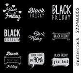 black friday typography design... | Shutterstock .eps vector #522460003