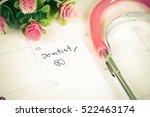 "reminder ""dentist appointment""... | Shutterstock . vector #522463174"