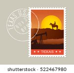 texas postage stamp design. ... | Shutterstock .eps vector #522467980