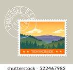tennessee postage stamp design. ...   Shutterstock .eps vector #522467983