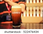 pint of guinness with one... | Shutterstock . vector #522476434