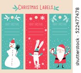 christmas labels | Shutterstock .eps vector #522477478