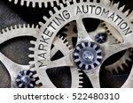 macro photo of tooth wheel... | Shutterstock . vector #522480310
