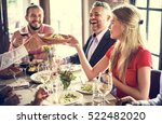 restaurant chilling out classy... | Shutterstock . vector #522482020