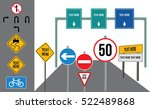 road signs | Shutterstock .eps vector #522489868