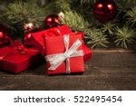 luxury new year gifts ... | Shutterstock . vector #522495454