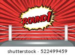 boxing ring corner with red... | Shutterstock .eps vector #522499459