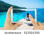 taking photo with mobile smart... | Shutterstock . vector #522501550