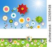 flowers garden. vector spring...   Shutterstock .eps vector #522505438