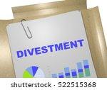 "3d illustration of ""divestment"" ... | Shutterstock . vector #522515368"