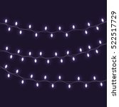 christmas lights isolated... | Shutterstock .eps vector #522517729