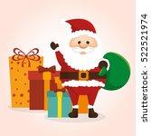 happy merry christmas santa... | Shutterstock .eps vector #522521974