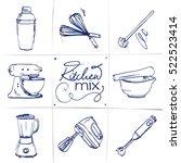 Doodle Set Of Kitchen Mixer  ...