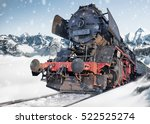 classic locomotive train on... | Shutterstock . vector #522525274