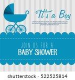 baby shower invitation card | Shutterstock .eps vector #522525814