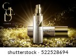 cosmetic product with golden... | Shutterstock .eps vector #522528694