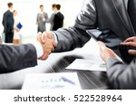 handshake of business partners... | Shutterstock . vector #522528964