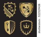 coat of arms   shield... | Shutterstock .eps vector #522529438