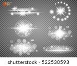 silver glitter bokeh lights and ... | Shutterstock .eps vector #522530593