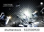 black ice eclipse and bright... | Shutterstock .eps vector #522530920