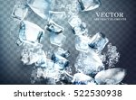 falling streaks of clear icy... | Shutterstock .eps vector #522530938