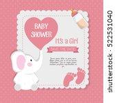 Stock vector baby shower invitation card 522531040