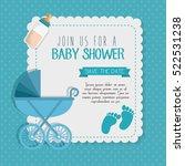 baby shower invitation card | Shutterstock .eps vector #522531238