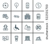 set of 16 traveling icons. can... | Shutterstock .eps vector #522531703
