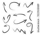 vector set of hand drawn arrows | Shutterstock .eps vector #522533089