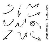 vector set of hand drawn arrows | Shutterstock .eps vector #522533098