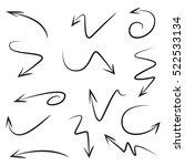 vector set of hand drawn arrows | Shutterstock .eps vector #522533134