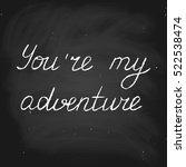 vector handwritten text in... | Shutterstock .eps vector #522538474