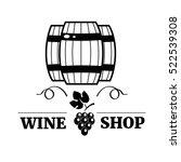 elegant wine logo templates ... | Shutterstock .eps vector #522539308