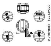 set of elegant wine logo... | Shutterstock .eps vector #522539320