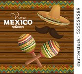 viva mexico poster icon | Shutterstock .eps vector #522539389