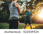 young man doing weight training ... | Shutterstock . vector #522539524