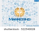 brain of business success... | Shutterstock .eps vector #522540028