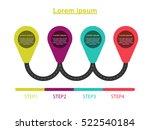 timeline road step diagram.... | Shutterstock .eps vector #522540184