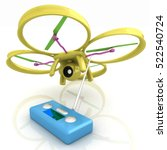 drone with remote controller.... | Shutterstock . vector #522540724