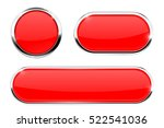 red   buttons. web elements... | Shutterstock .eps vector #522541036