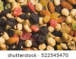 dried fruits and nuts closeup... | Shutterstock . vector #522545470